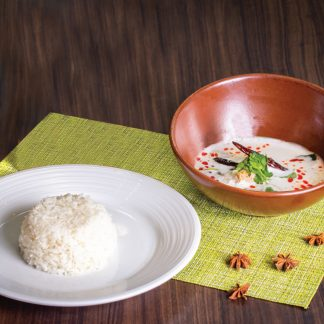 Tom Kha Gai with Steamed Rice
